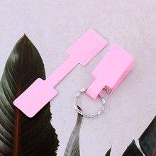 Etiqueta de anel de papel dobrável, etiqueta de anel de papel multicolorido 100*6cm branco/rosa/amarelo auto adesivo etiquetas de preço com 1.3 peças adesivo para jóias frete grátis