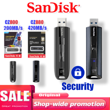 SanDisk Flash USB 3.1 EXTREME PRO, à forte capacité de 64 go, 128 go, 256 go, performance rapide, clé USB