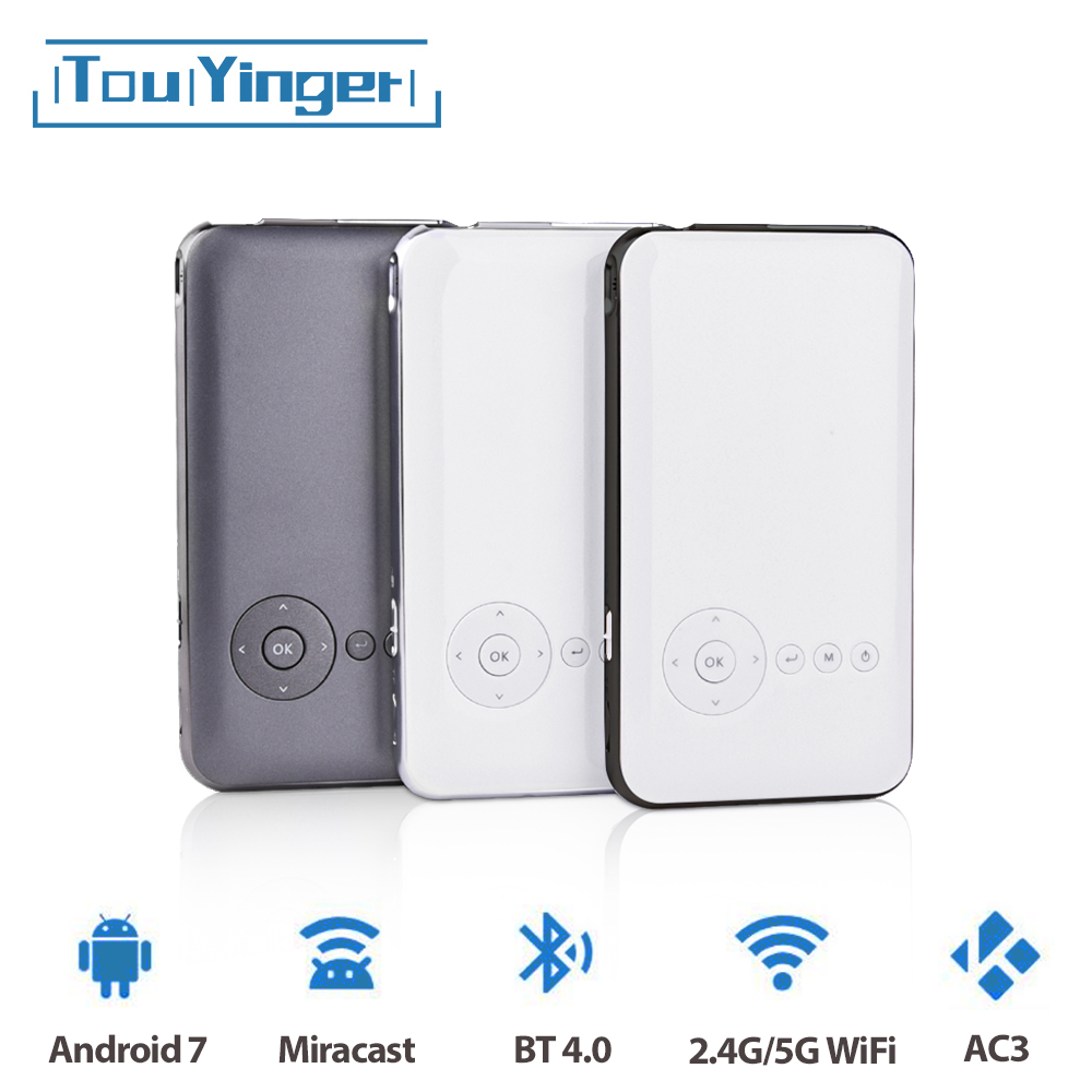 5000mah Touyinger Everycom S6 Plus Android 7 Dlp Wifi Smartphone Pico Pocket Portable Projector Mini Led Android AC3 Bluetooth