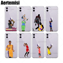 Aertemisi 100 Pieces Phone Cases Allen Iverson Tyronn Lue Clear TPU Case Cover for iPhone 6 6s 7 8 Plus X XS XR 11 Pro Max 3 allen iverson
