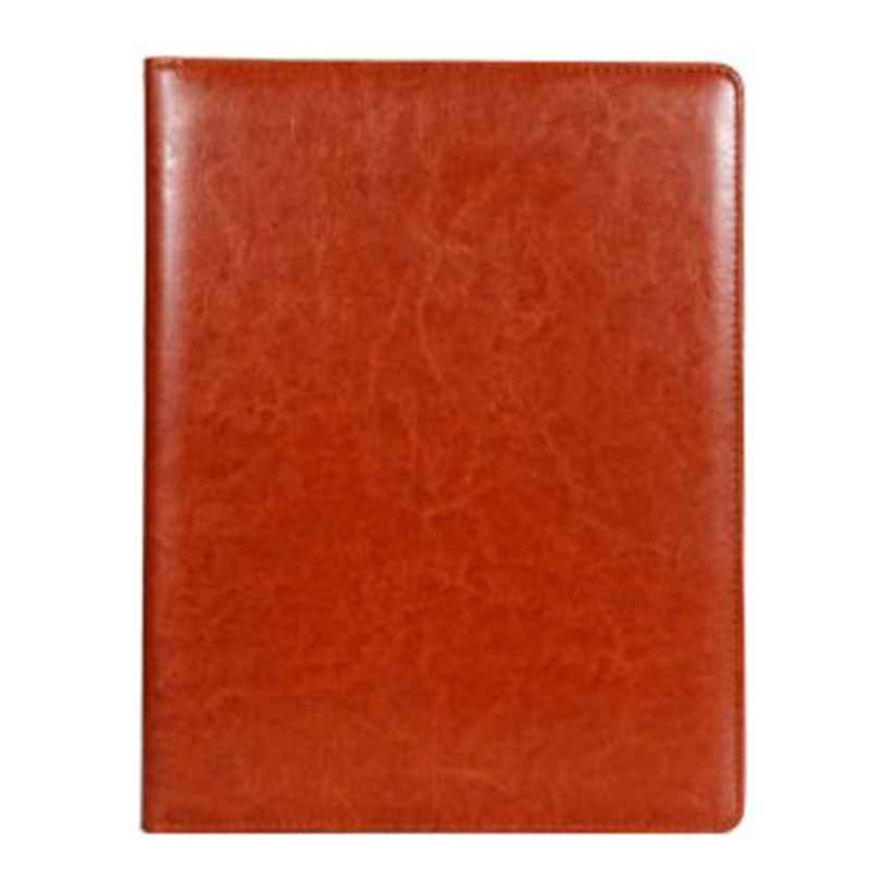A4 Clipboard Multi-Function Filling Products Folder For Documents School Office Supplies Organizer Leather Portfolio,Brown 2 Pcs