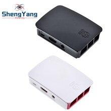 Framboesa pi 3 / 3 b + caso oficial abs caixa de cerco profissional apenas para raspberry pi 3 modelo b plugue plástico caso protetor
