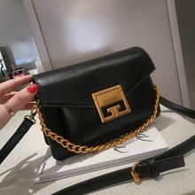 Best Selling Retro Handbag 2019 New Pu Shoulder Bag Small Square Solid Color