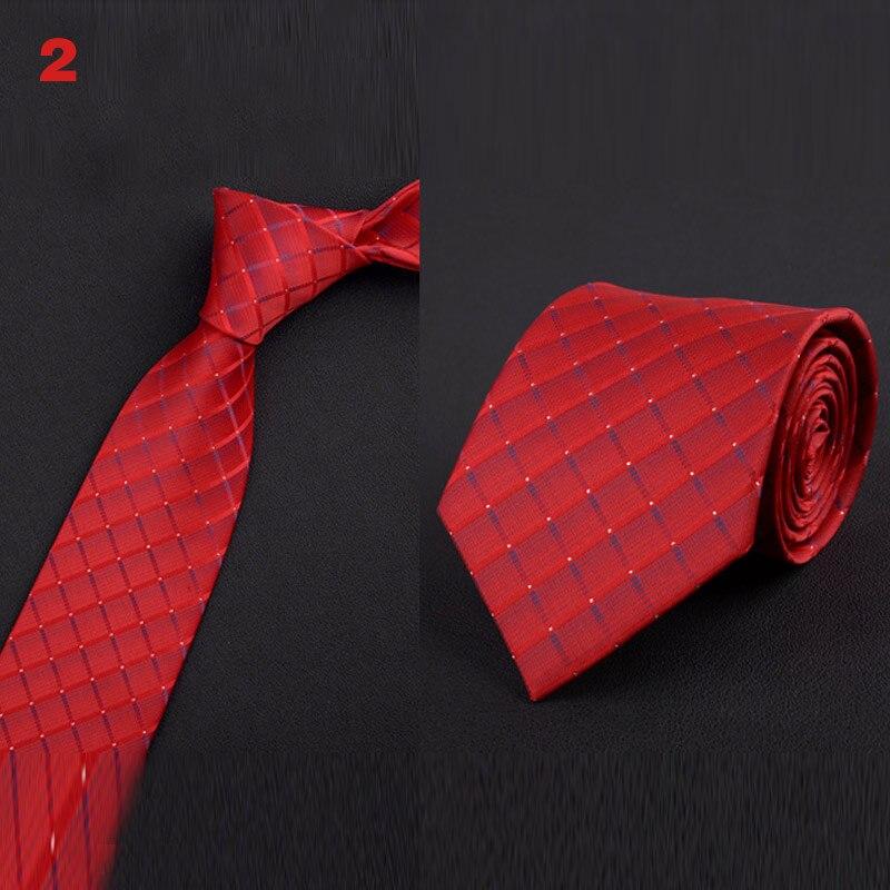 Men Office Business Wedding Neck Tie England Stripes Jacquard Woven 8cm Wide Necktie FEA889