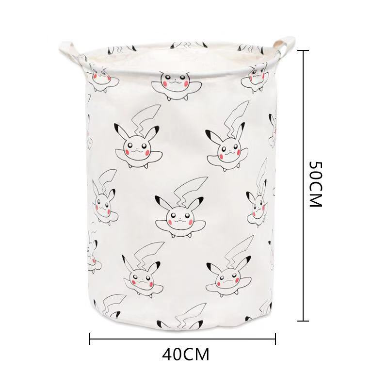 Totoro Foldable Canvas Laundry Basket for Book, Toy, Clothes Collapsible Cubes Storage Bin, Large Hamper Laundry Basket 2
