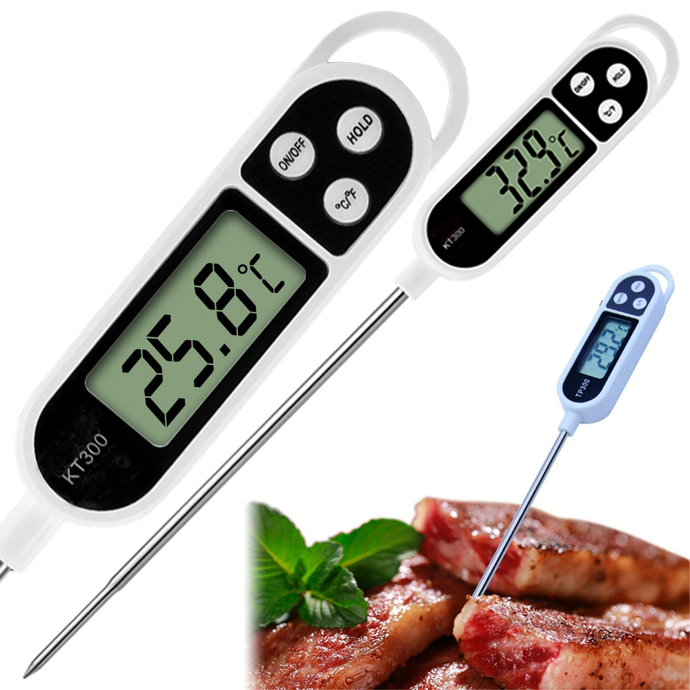TP300 Digital Food Thermometer Probe For Kitchen BBQ Meat Water Milk Oil Tea Soup Electronic Oven Temperature Measuring Tool