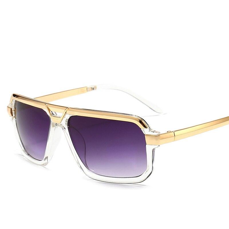 2021 Модные мужские крутые Квадратные Солнцезащитные очки с