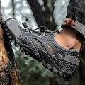 Лев крик треккинговые Туфли летние мужские быстросохнущие водные туфли сетчатые пляжные уличные сандалии для прогулки треккинговые туфли ...