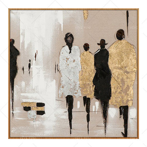 Handmade Abstract Pedestrian Art Oil Painting On Canvas Modern Paintings For Living Room Decor Modern Art Pictures(China)