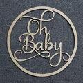 ああベビーサインアクリル木製ミラーゴールド名のために署名ベビーシャワーパーティーの装飾、パーソナライズされたミラー Babyshower ギフト
