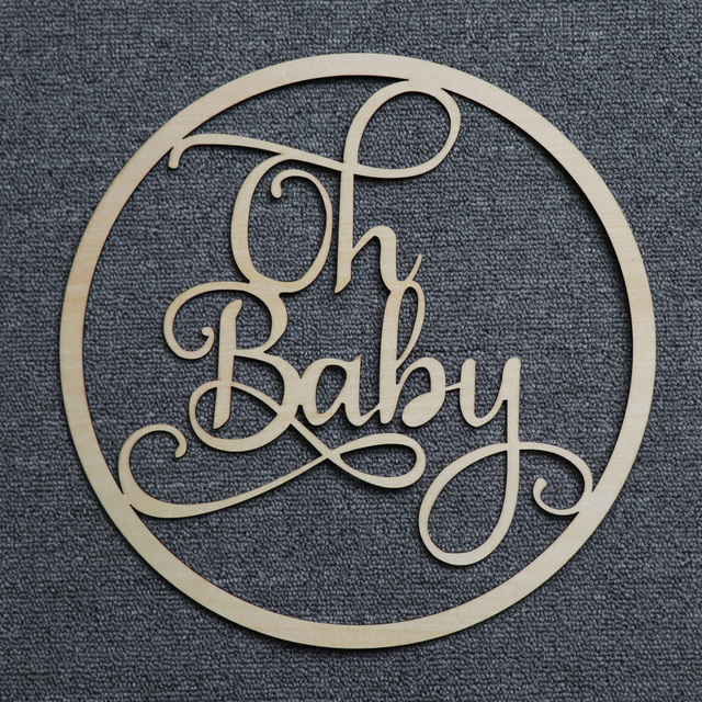 Oh Baby Sign Acrylic Wood Mirror gold Name Sign for Baby Shower Party Decor, Personalized Mirror Babyshower Gift