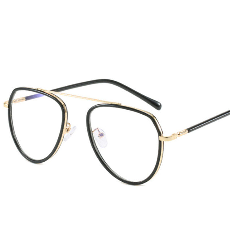 XojoX Vintage Anti-blue Light Glasses Frame Men Women Transparent Lens Myopia Glasses Male Compute Eyeglasses Frames