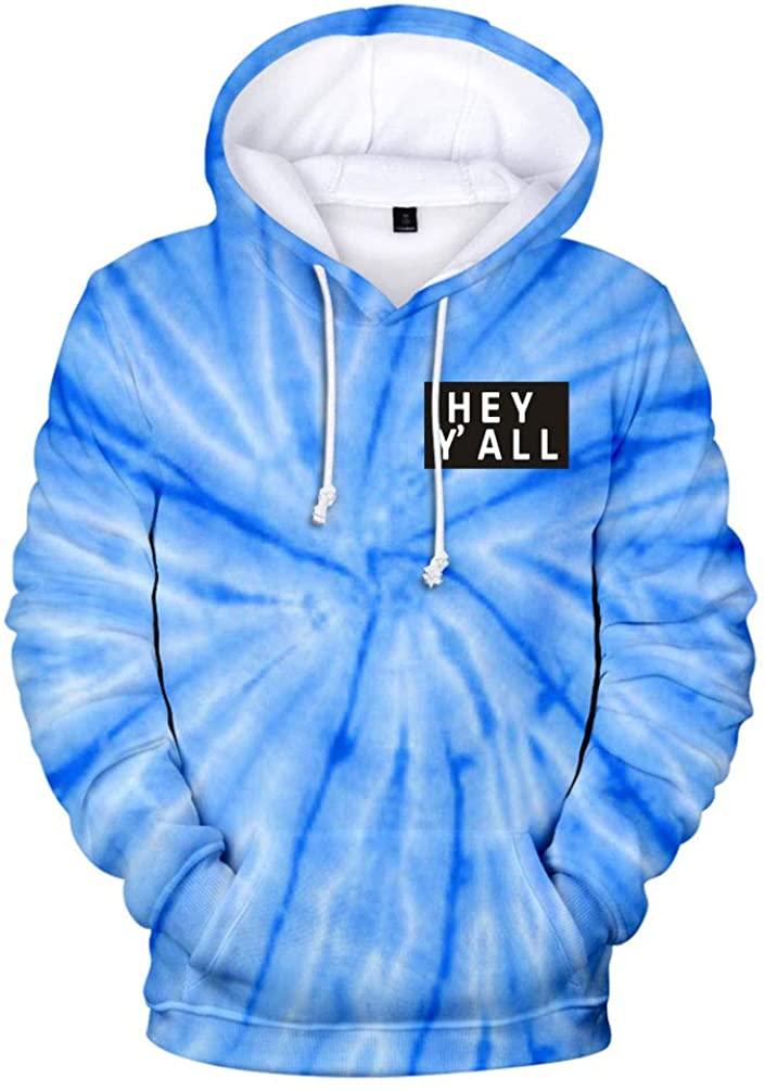 2020 Addison Rae: Hey Y'all Tie Dye 3D Hoodie Men/Women Casual Fashion Long Sleeve Hoodies Sweatshirts Tops Outwear Tracksuit 6
