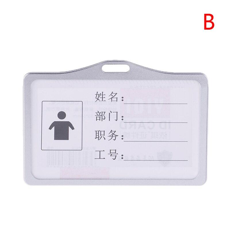 1 шт., алюминиевый сплав, рабочие визитницы, визитница, визитная карточка, ID значок, ремешок-держатель, хит, вертикальный металлический, ID, деловой чехол - Цвет: B