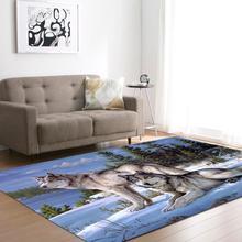 Cartoon zwierząt wilk drukowanie 3D duży dywan miękka flanelowa powierzchnia domu dywaniki dzieci zagraj maty antypoślizgowe Tapis dywan na wystrój salonu tanie tanio Japoński i koreański Maszyna wykonana Rectangle Hotel Bedroom Modlitwa OUTDOOR Dekoracyjne Handlowych Kilim Pranie ręczne