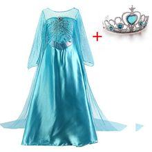 Платье принцессы для девочек; платье принцессы Эльзы для костюмированной вечеринки; Детские вечерние костюмы на Хэллоуин; костюм принцессы для костюмированного представления; рождественские платья для девочек