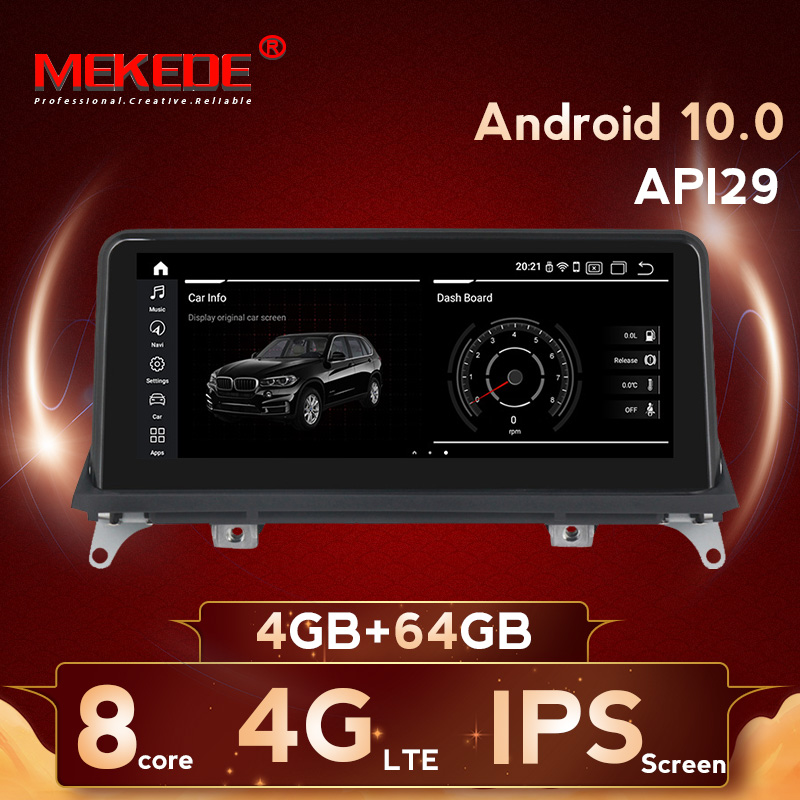 8 Cores 4G+64G Android 10.0 Car Multimedia Player Navigation GPS Radio For  BMW X5 E70 X6 E71 2007-2013 Original CCC Or CIC
