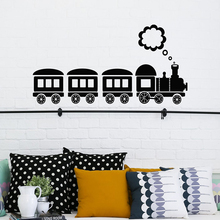 Cartoon Train Locomotive Vinyl wall stickers For kids room Decoration cute train pattern Decal Nursery Bedroom Home Decor LW516 цена