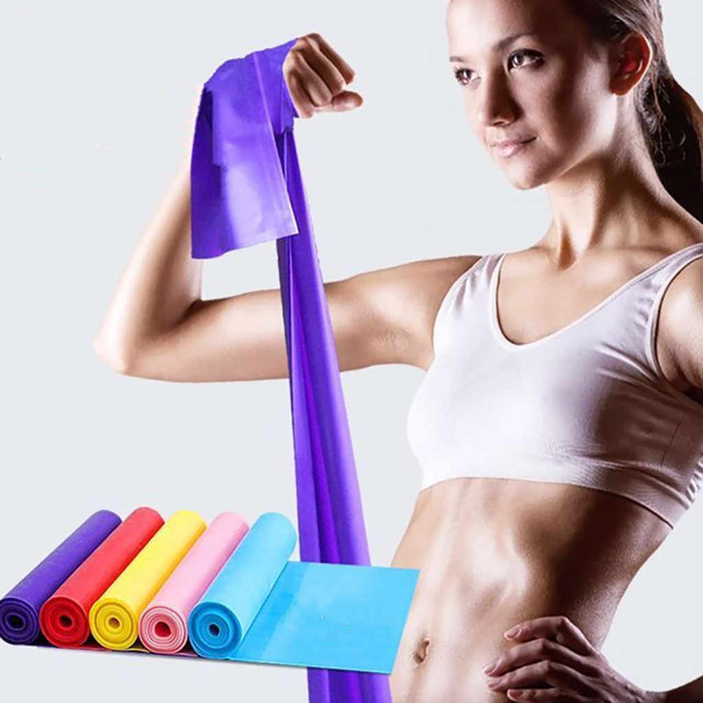 1.5m Yoga Tension Band Band Strength Training Stretch Belt Rubber  Tension Rope