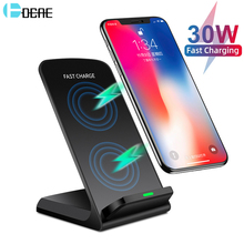 DCAE Quick 30W Qi Wireless Charger Dock Station For iPhone 12 11 Pro Max Mini XS XR X 8 Samsung S20 S10 S9 Fast Charging Stand