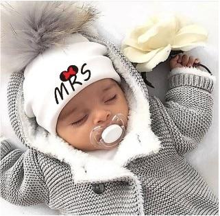 Newborn Cotton Hats  Baby Pom Pom  Photo Props Mrs Mr Children's Kids Hat  Boy Accessories Toddler Girl Cap Bonnet  Baby Hats