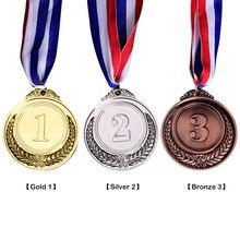Ouro prata bronze prêmio crianças medalha vencedor recompensa crachá crianças jogo prêmio para esportes acadêmicos ou qualquer diâmetro da competição
