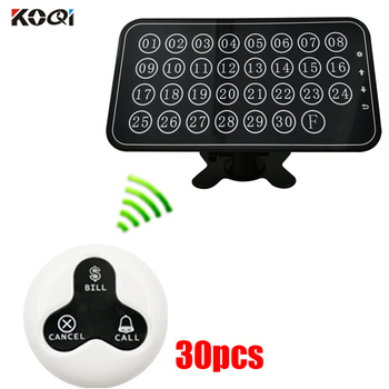 Pager Call System staff call system 1 electronic number display receiver 30 waiter call button for restaurant