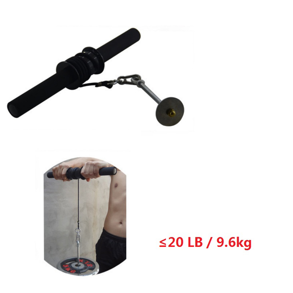 Home Wrist Roller Forearm Exerciser Strengthener Anti Slip Arm Strength Trainer Home Gym Fitness Workout Equipment