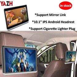 Сиденье автомобиля монитор подголовника Android с 10,1» IPS Дисплей WI-FI Bluetooth заднего сиденья Развлечения 1080 HD видео Nirror ссылка
