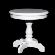 1/12 Scale mini house Miniature Round Wooden Coffee Table (White)