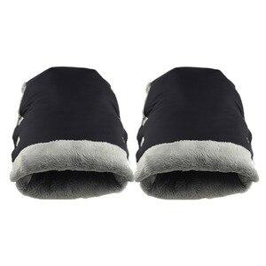 Image 5 - Baby Stroller Gloves Winter Warm Mittens Pram Handle Cover Child Hand Muff  Pushchair Hand Warmers Muffs Yoyo Yoya Accessories