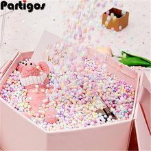 10 g/worek mała malutka kolorowa pianka kulki pudełko wypełniacz urodziny dekoracja na przyjęcie ślubne DIY Craft kula kąpielowa Ballon pianka wypełniacz
