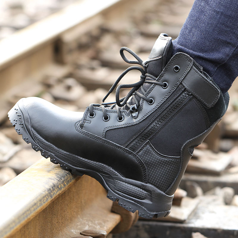 Extra-value Hot Selling Combat Boots CQB. Swat Lightweight Combat Boots Shock Absorption Hight-top Outdoor Tactical Boots Combat