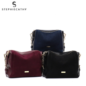 Image 5 - SC Luxury Brand Suede Patchwork Women Bags Soft Nubuck Handbag for Girls Chain Shoulder Bag Ladies Hobo Crossbody Messenger Bags