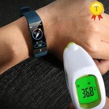 นักเรียนอุณหภูมิความร้อน ECG PPG สมาร์ทนาฬิกา Man Fitness Tracker สร้อยข้อมือ Heart Rate ความดันโลหิตกีฬา SmartWatch