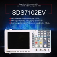 Owon SDS7102EV Digital Storage Oscilloscope 100MHz 2+1 Channels Record USB Waveform Generator Logic Analyzer Spectrum