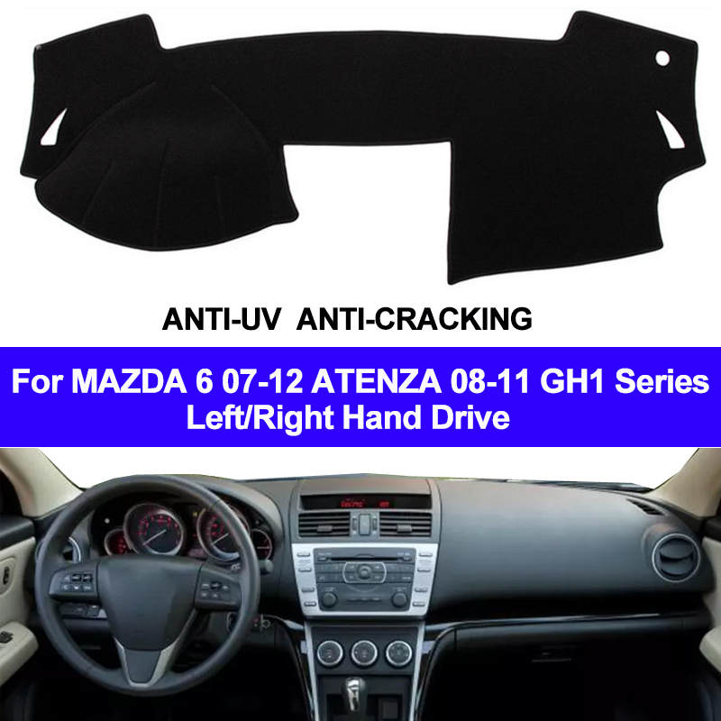 Car Dashboard Cover Dash Mat Carpet Cape For MAZDA 6 2007 - 2012 ATENZA 2008- 2011 GH1 Series LHD RHD 2 Layers Auto Sunshade