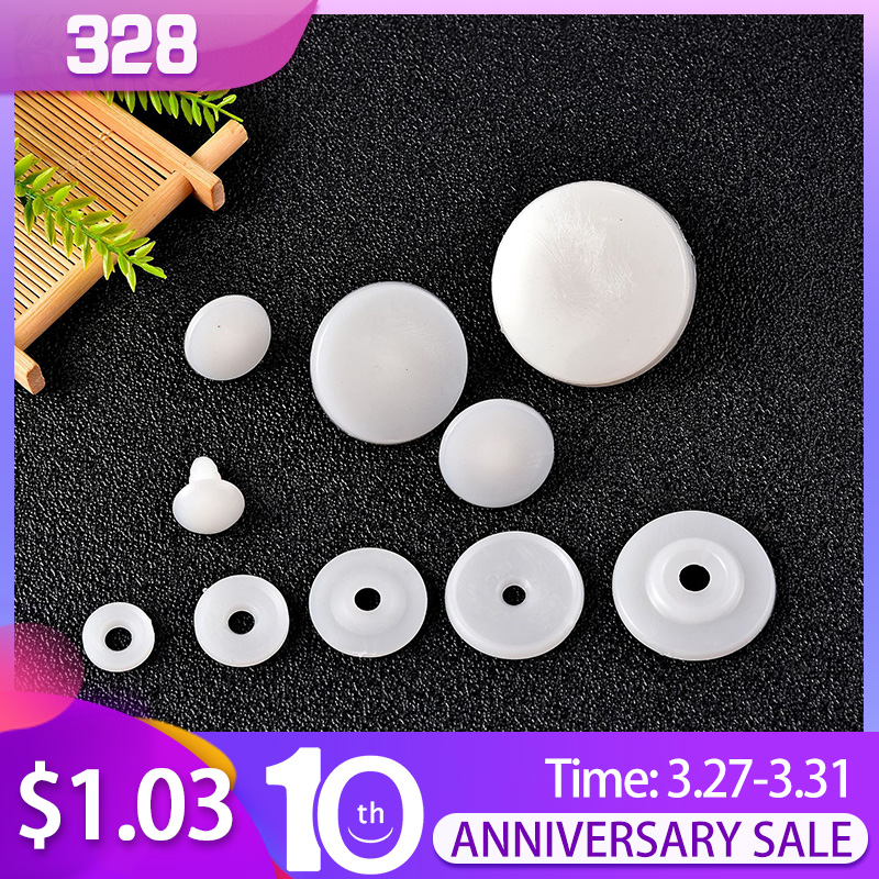 50set 15/20/25/30mm White Plastic DIY Doll Joints Teddy Bear Making Crafts Gifts Kids Toy Dolls Accessories Gifts For Child Toys