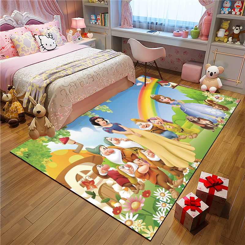 Snow White Kitchen Mat Anti-slip Modern Area Rugs Living Room Balcony Bathroom Printed Carpet Doormat Hallway Geometric Bath Mat