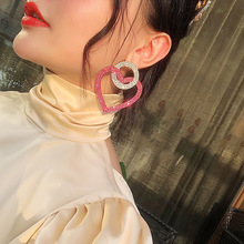Fashion Big Earrings With Stones 2019 New Statement Circle Heart Drop Dangle Party Jewelry Wholesale