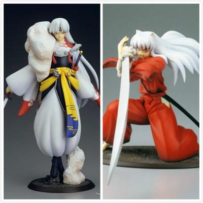 Anime Inuyasha Action Figure Inuyasha Sesshomaru Demon Dog Tessaiga Tenseiga Sword PVC Model Toys