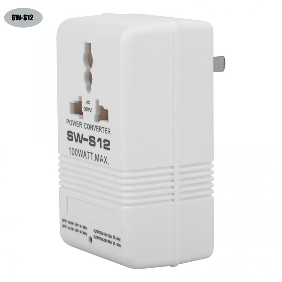 SW-S12 преобразователь напряжения трансформатор 100W 110V/120V до 220V/240V Step-Up & Down преобразователь напряжения трансформатор преобразователь питания