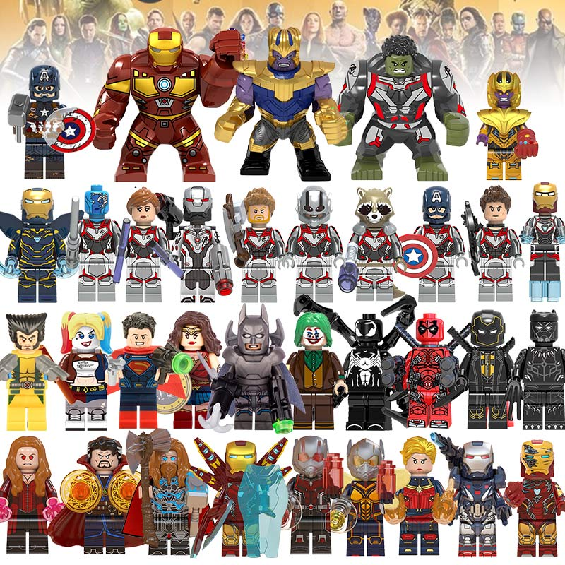 Building Blocks LEGOED Marvel Avengers Super Heroes 4 Thor Infinity War Hulk Machine Figures Iron Man Thanos Endgame Kids Toys