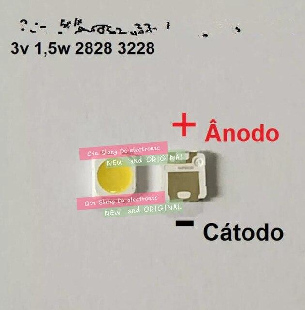 200 قطعة لسامسونج 2828 LED الخلفية TT321A 1.5 واط 3 واط مع زينر 3228 2828 كول الأبيض LCD الخلفية لتطبيق التلفزيون التلفزيون LED