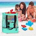 Теплоизоляционная Пляжная сумка для ланча, женская сумка из сетки, двухслойная портативная вместительная сумка для еды, уличный рюкзак для ...