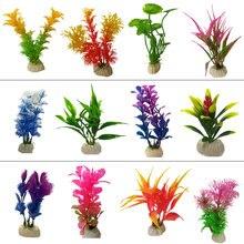 1/2/4/12 pces aquarium artificial plástico plantas decoração aquário paisagem 1 pçs artificial decorações do tanque de peixes