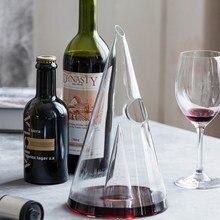 Decantador de vino de cristal pirámide creativo, 350ml/750ml, decantador de vino tinto de cristal hecho a mano para vino, Brandy, whisky
