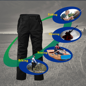 Image 5 - 8 Fans 2 ply Fishing Hiking Trawler Pant with Pockets Outdoor Quick Dry Breathable Trouser for Men & Women Waterproof Black