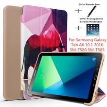 Tablet case for Samsung Galaxy tab 10.1 T580 T585 Funda Smart cover for Tab A6 10.1 2016 SM-T580 Slim Protective Shell cowboy pattern case for samsung galaxy tab a a6 10 1 2016 t580 t585 sm t580 t580n case cover funda tablet stand protective shell