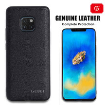 Luxury 360 Full Shockproof Protect Case For Huawei Mate20 20 Pro Phone Soft Shell Genuine Real Leather Protective Cover Cases